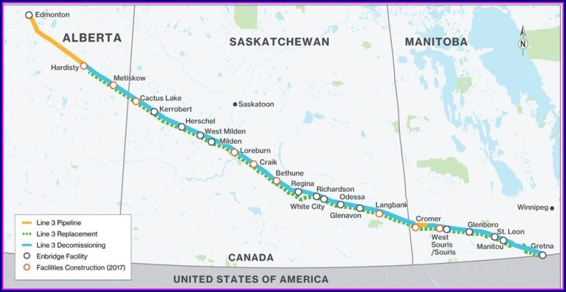 Line 3 Enbridge Pipeline Map