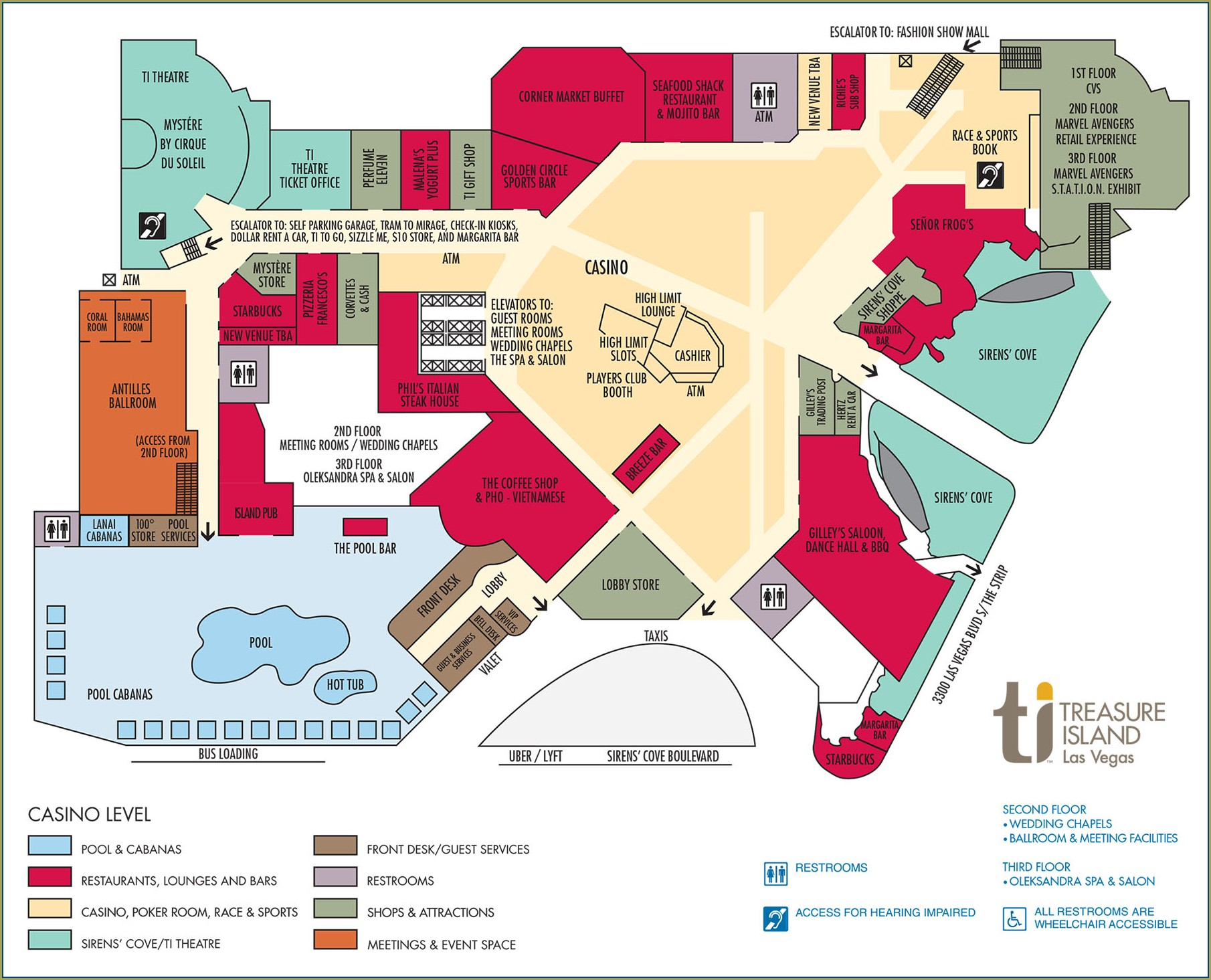 Linq Hotel Property Map