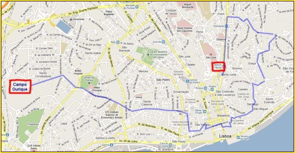 Lisbon Tram 28 Route Map Pdf
