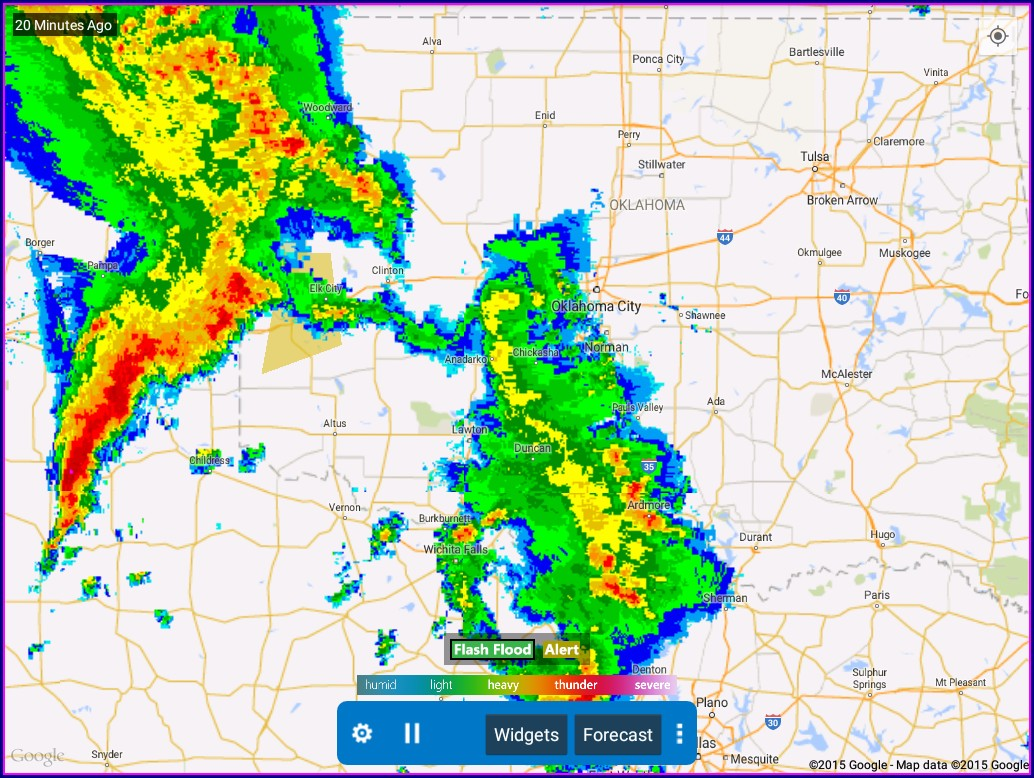 Local Radar Map In Motion