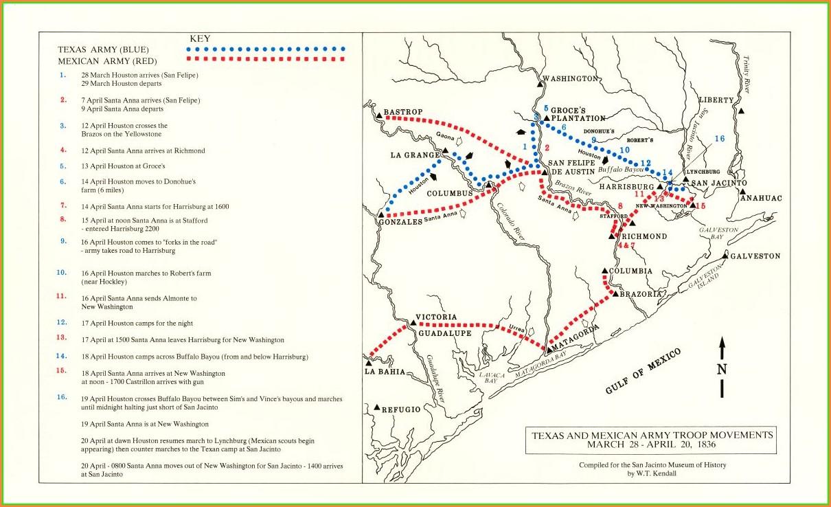 Location Battle Of San Jacinto Map
