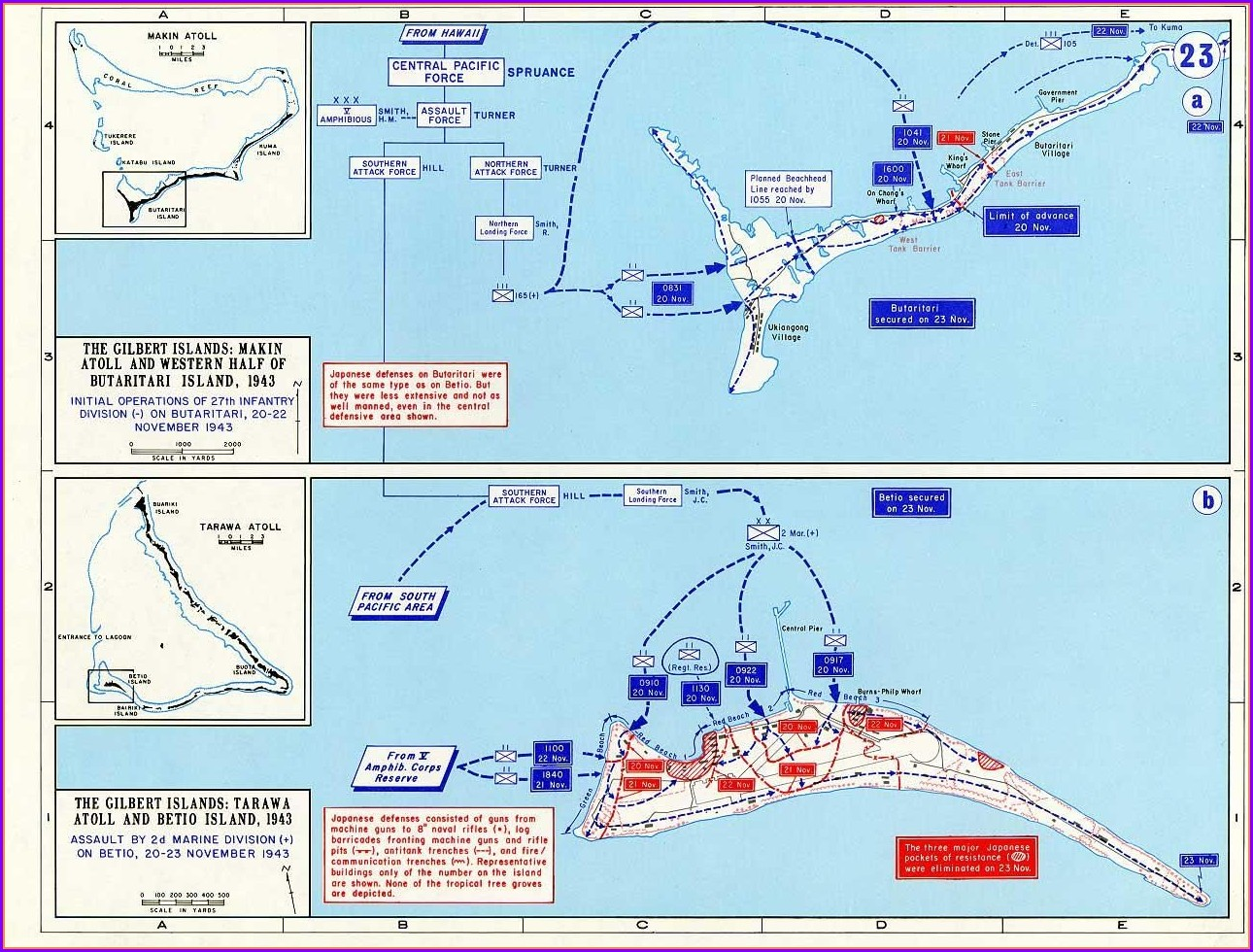 Location Battle Of Tarawa Map