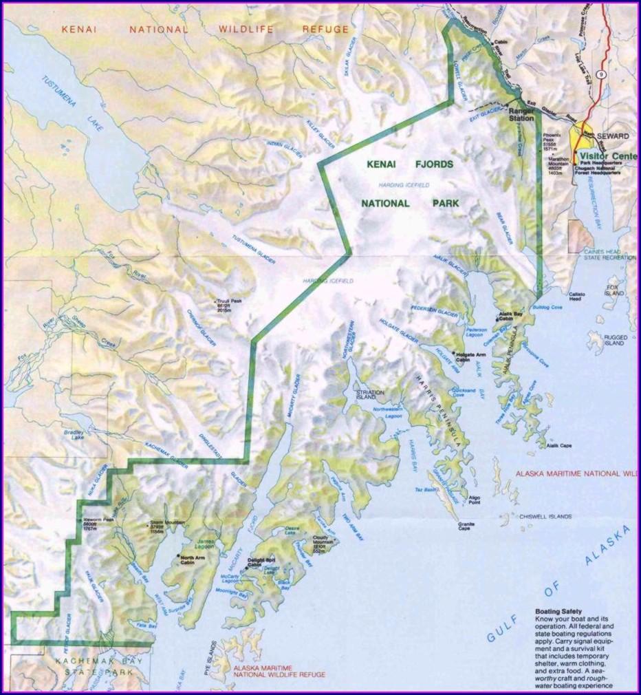 Location Kenai Fjords National Park Map
