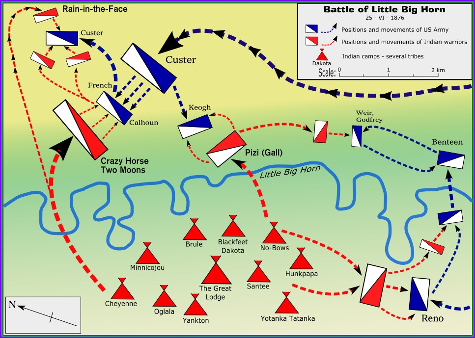 Location Little Bighorn Battlefield Map