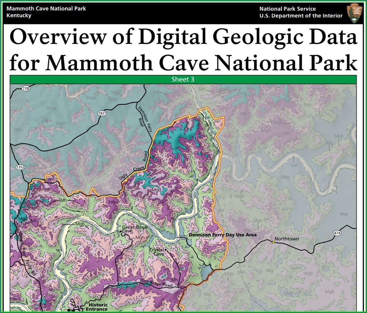 Location Mammoth Cave Kentucky Map