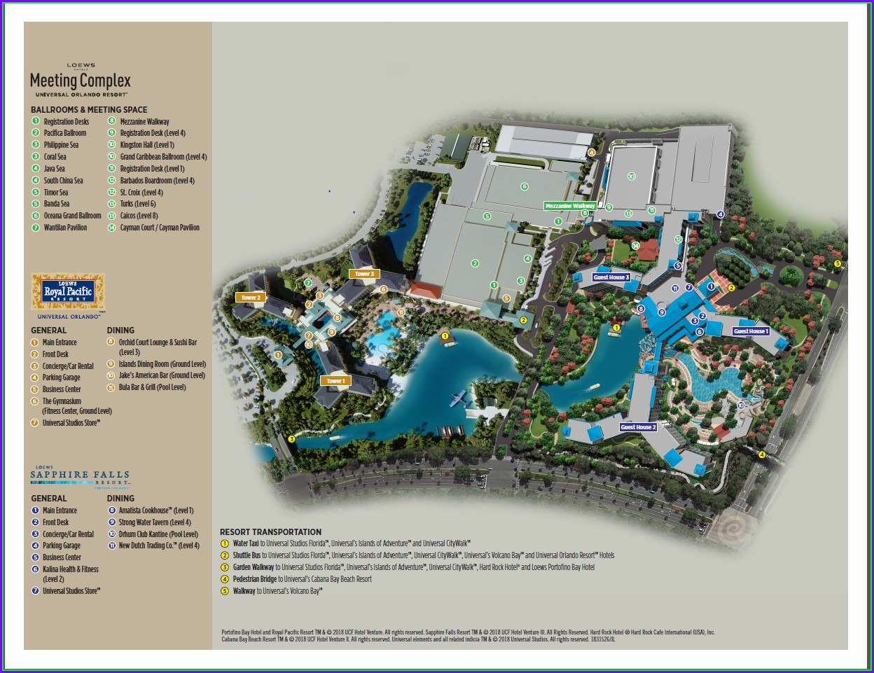 Loews Royal Pacific Resort Map Pdf