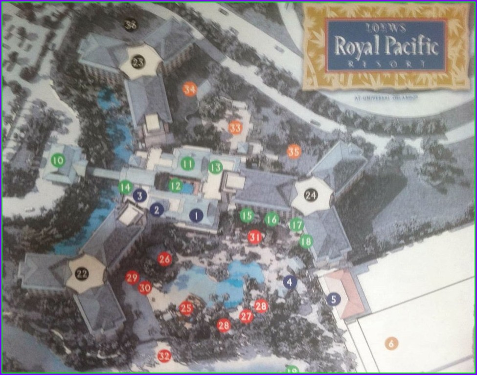 Loews Royal Pacific Resort Map