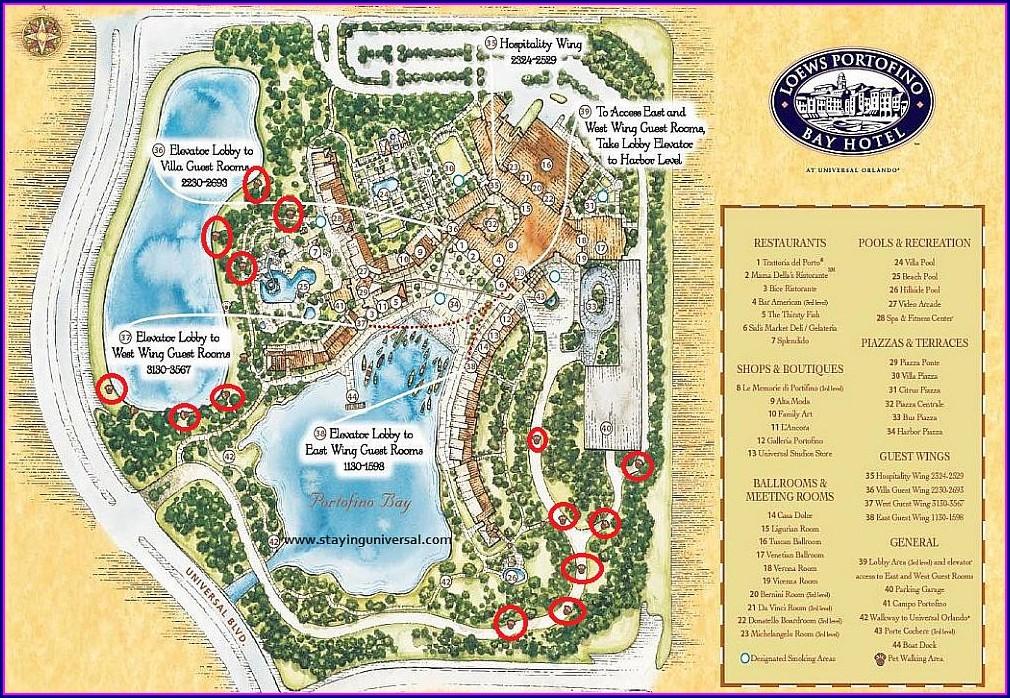 Loews Sapphire Falls Resort Map