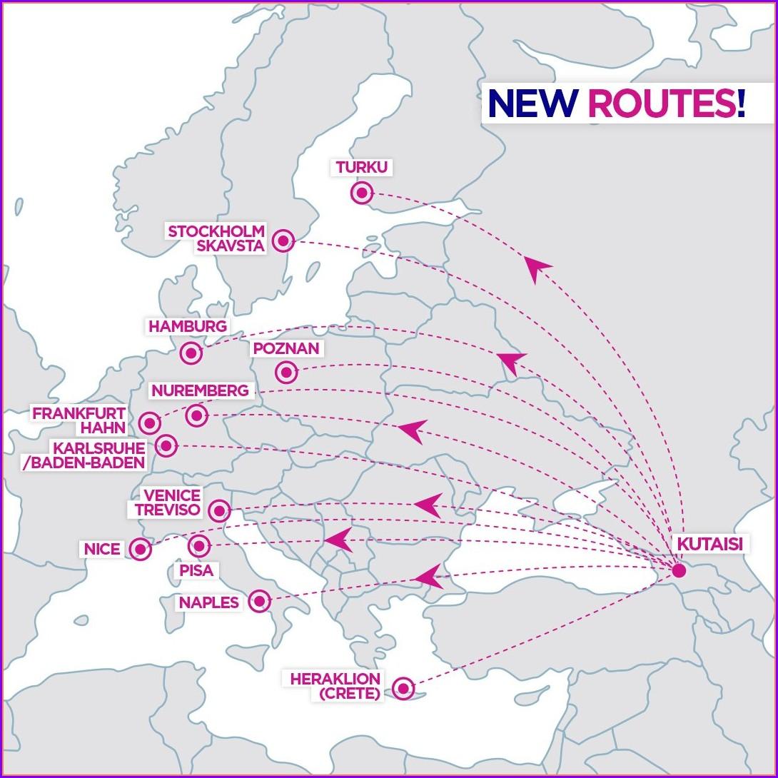 London Luton Wizz Air Route Map