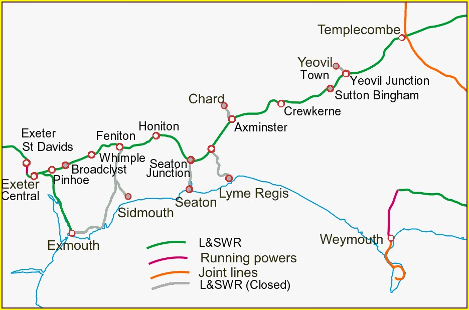 London To Exeter Train Route Map