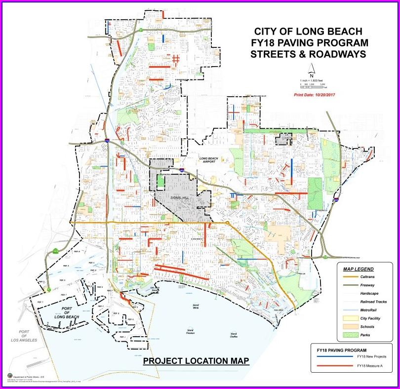 Long Beach Street Sweeping Map 2018