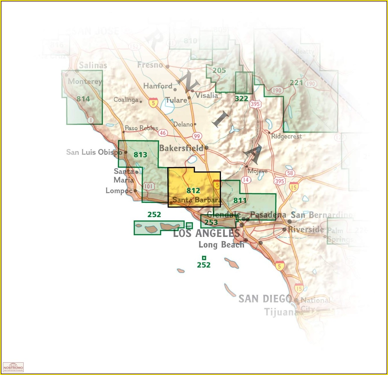 Los Padres National Forest Hiking Map