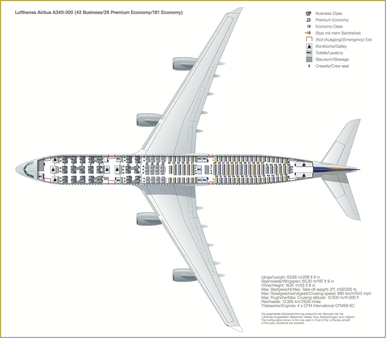 Lufthansa 401 Seat Map
