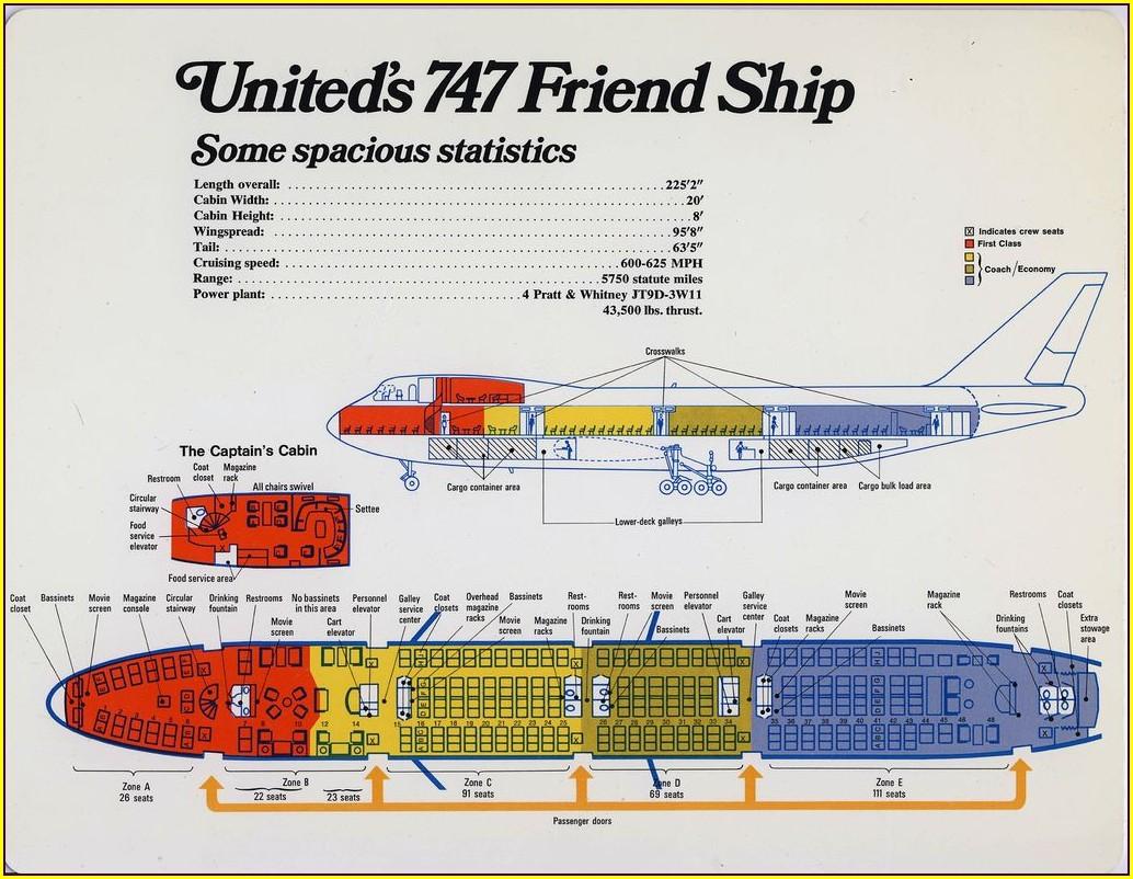 Lufthansa 747 100 Seat Map