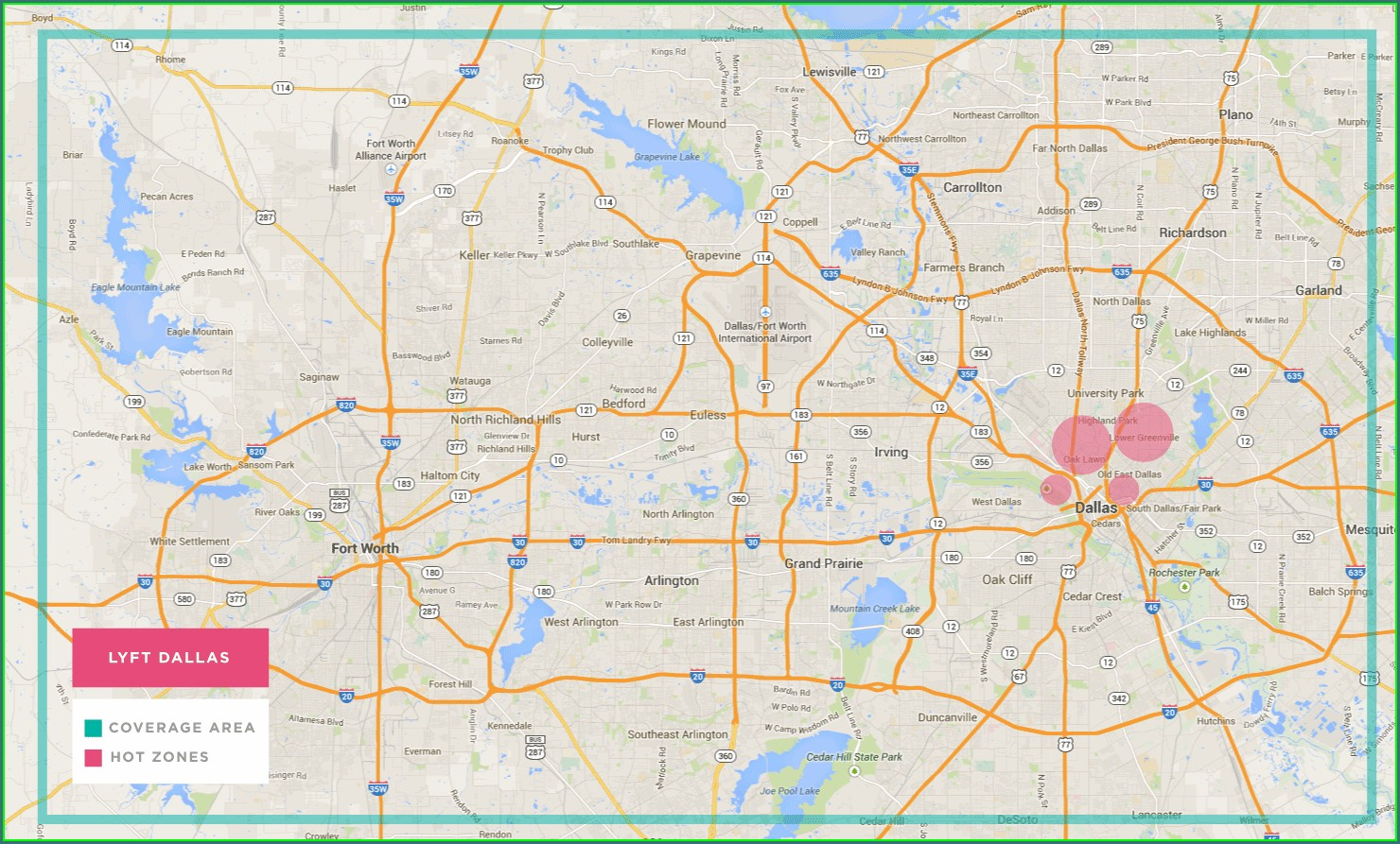 Lyft Hotspots Map Dallas