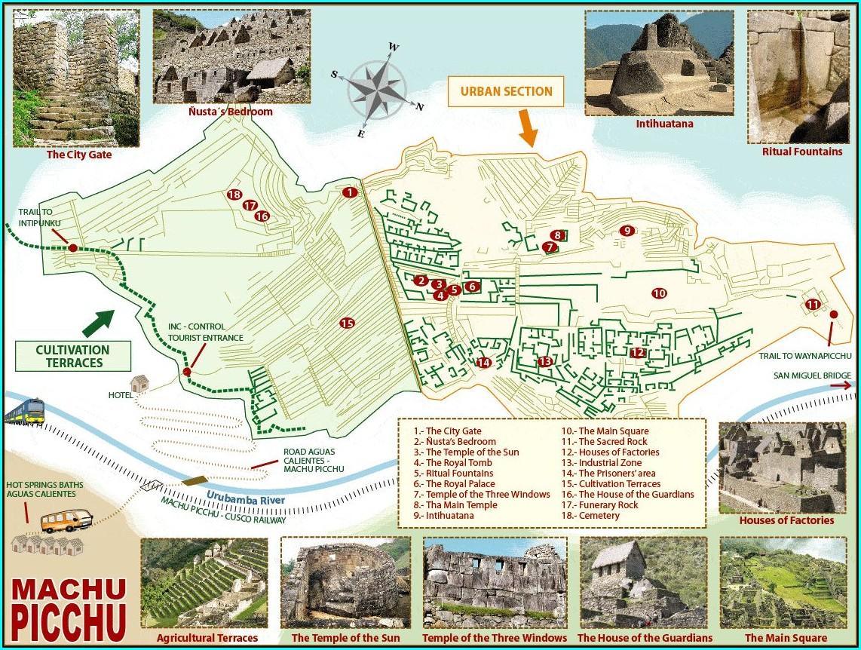 Machu Picchu Hike Map