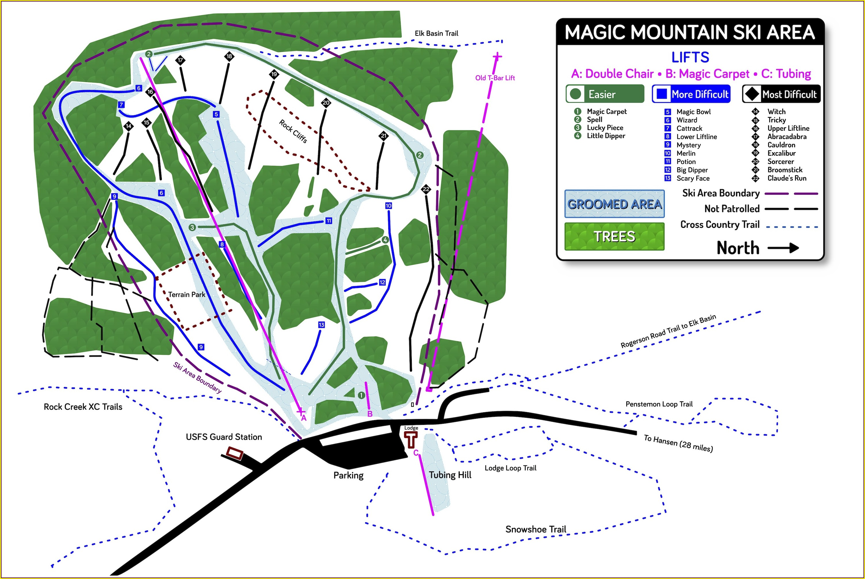 Magic Mountain Idaho Trail Map
