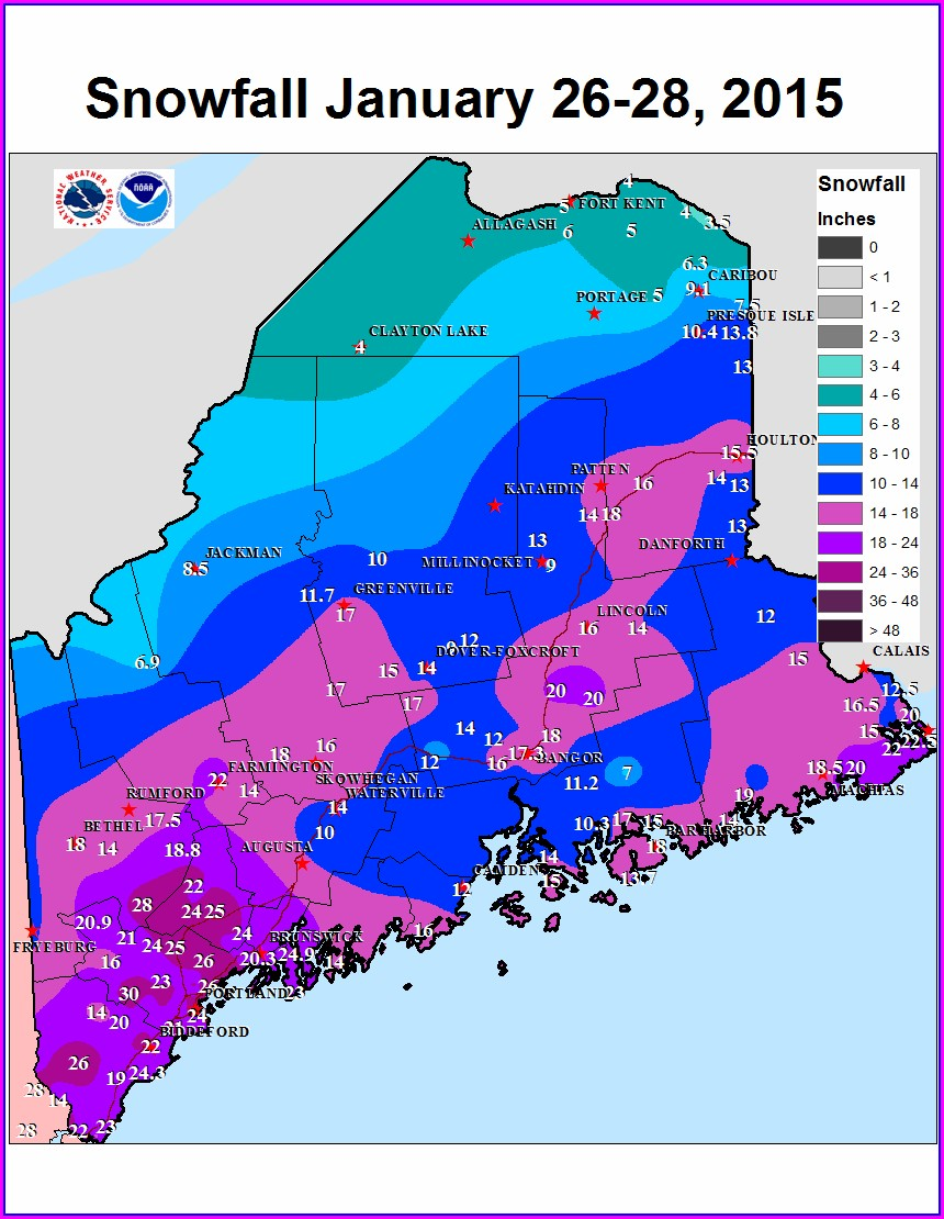 Maine Weather Map Today
