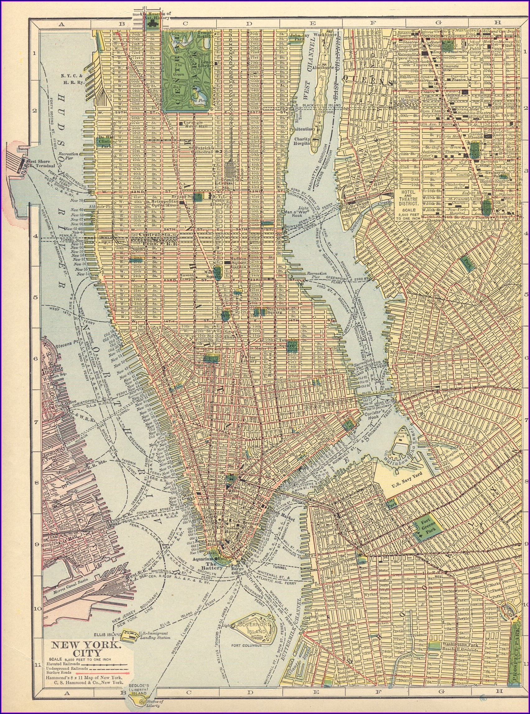 Manhattan Topographic Map Dwg