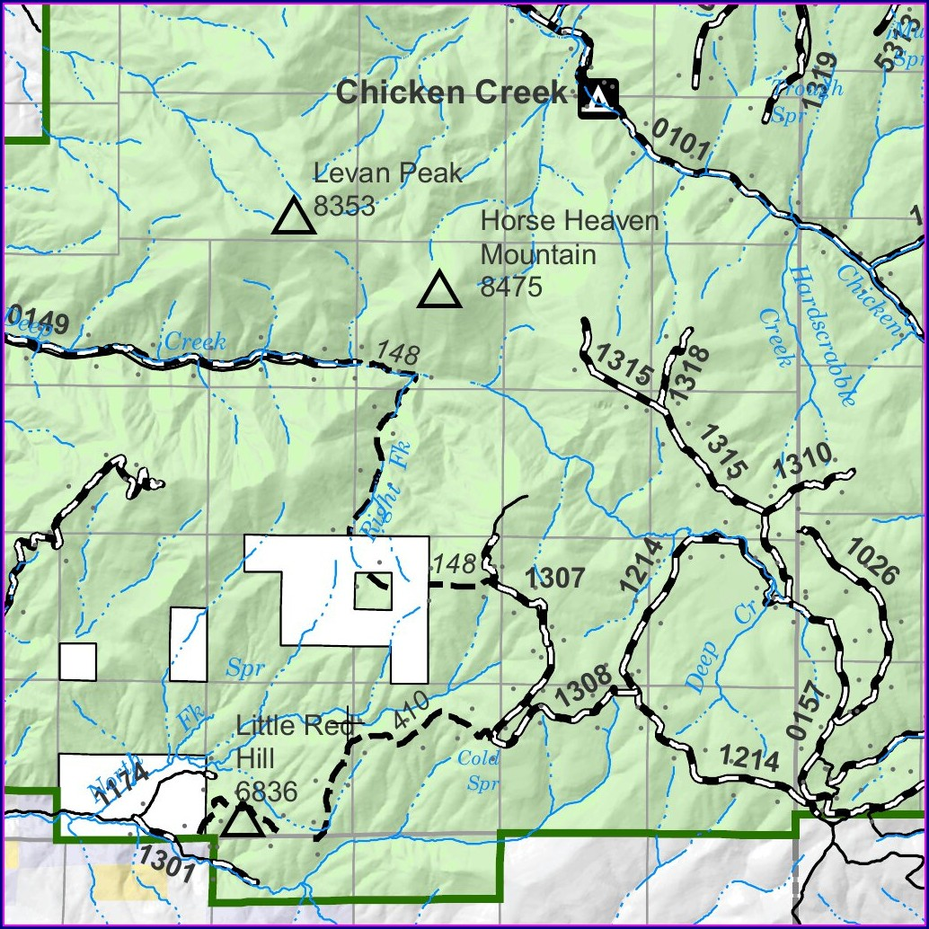 Manti La Sal National Forest Map