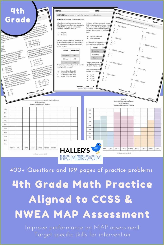 Map Math Practice 4th Grade