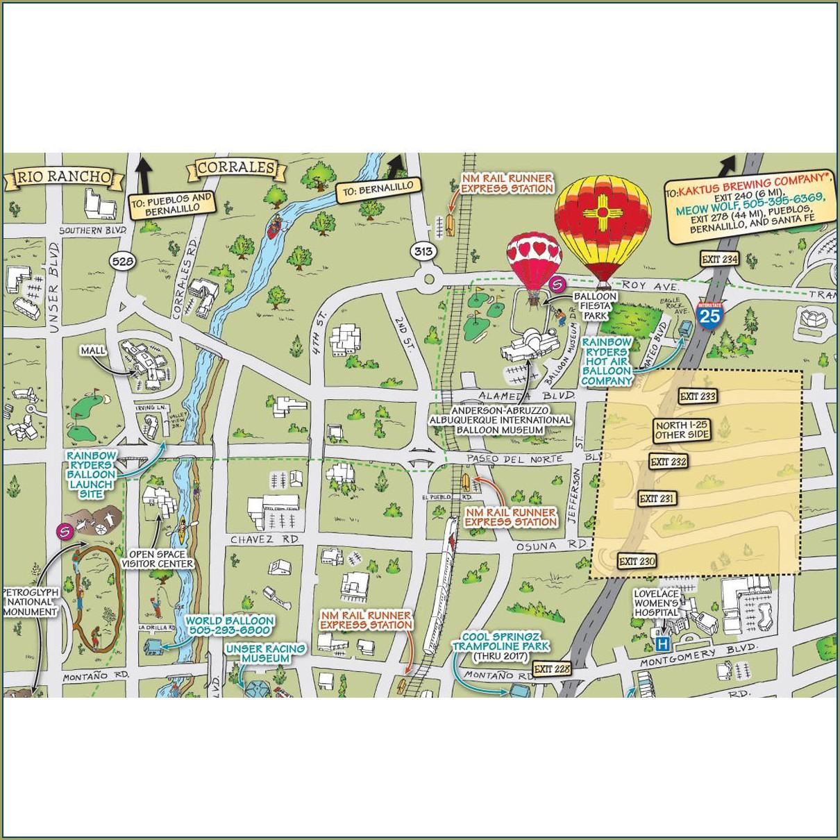 Map Of Albuquerque Hotels