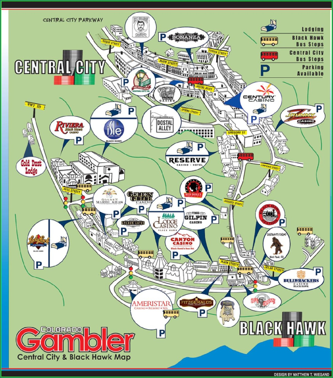 Map Of Black Hawk Casinos