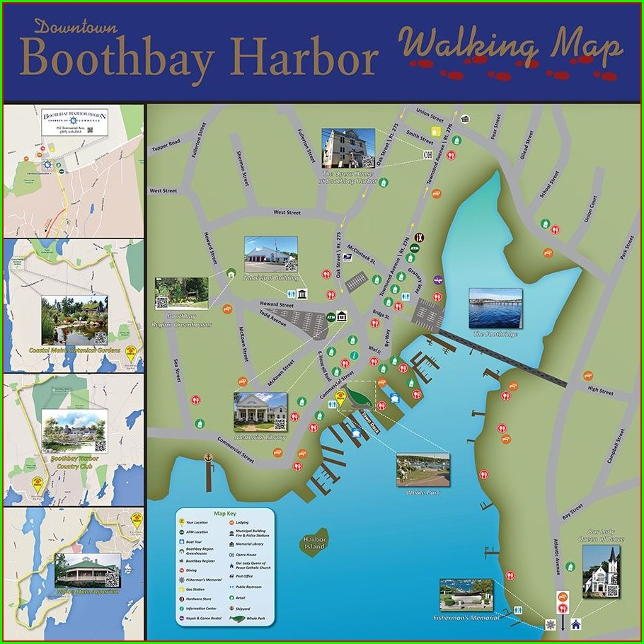 Map Of Boothbay Harbor Maine Area