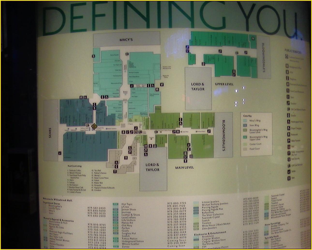 Map Of Bridgewater Commons Mall