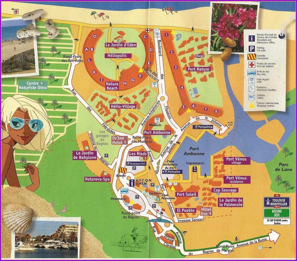Map Of Cap Dagde Naturist Village