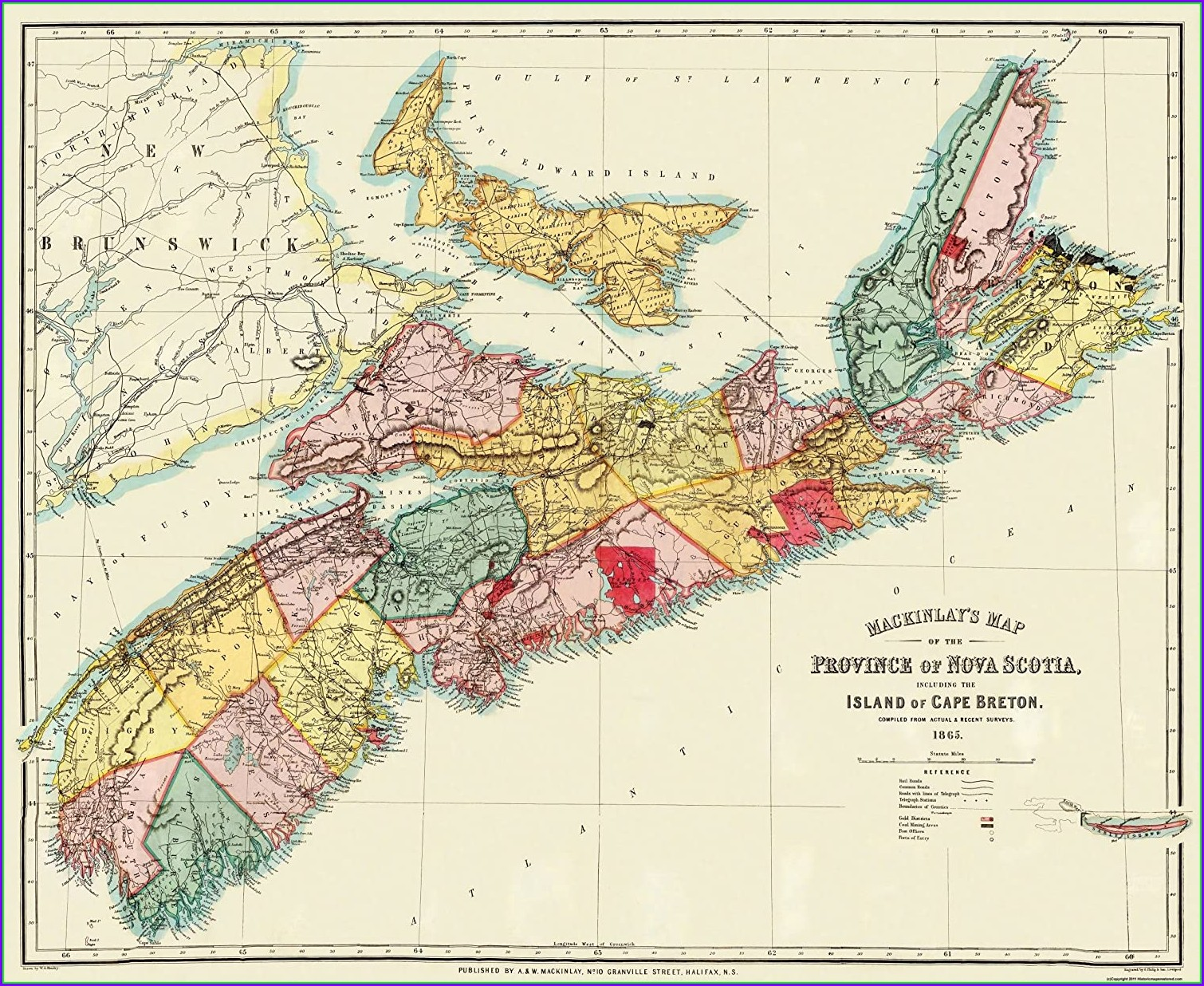 Map Of Cape Breton Island Nova Scotia