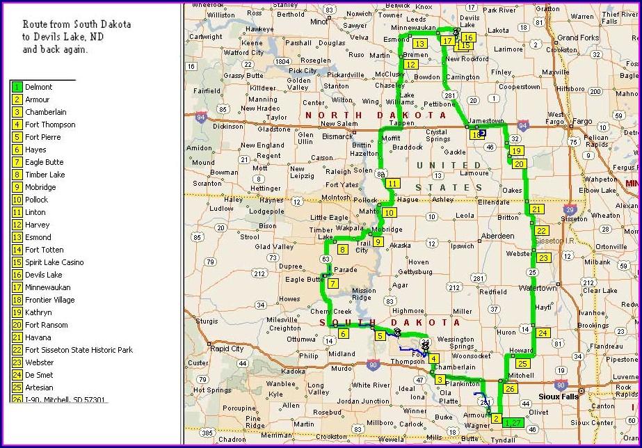Map Of Casinos In North Dakota