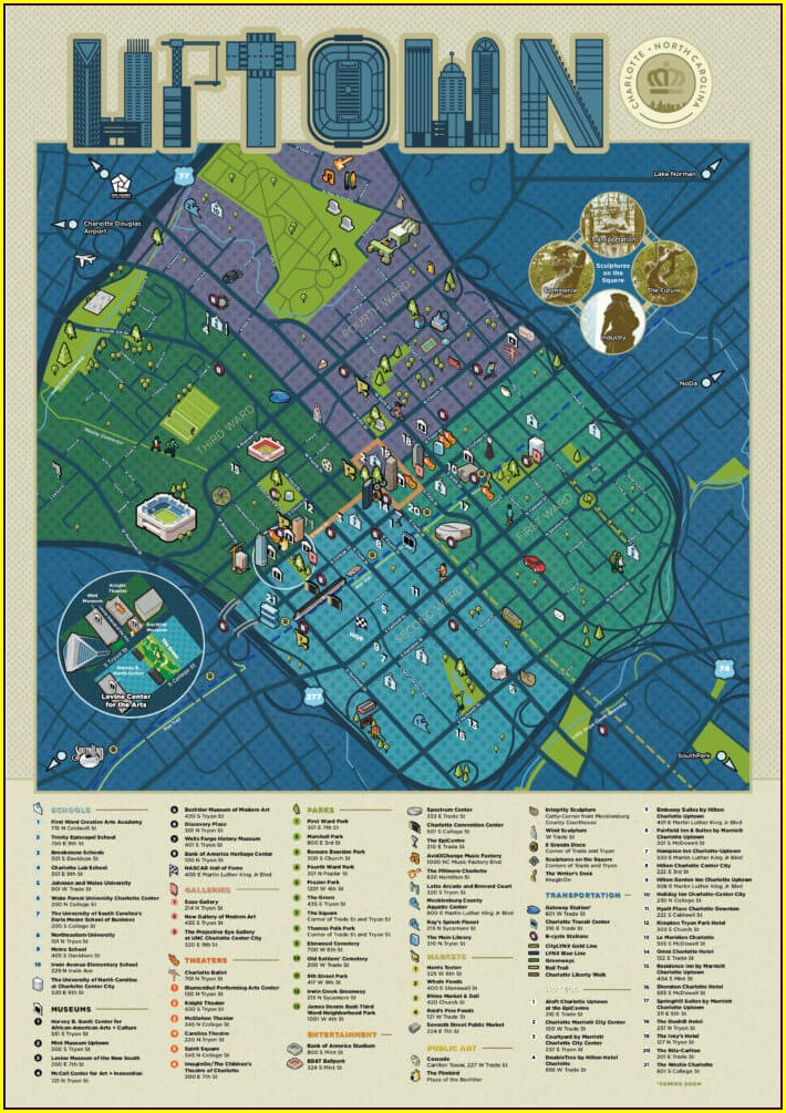 Map Of Charlotte Hotels