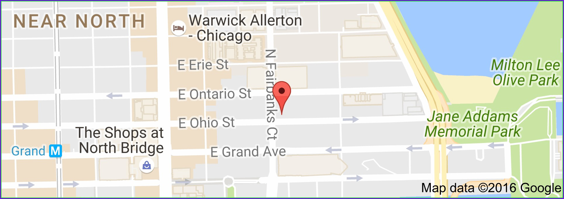 Map Of Chicago Hotels Magnificent Mile