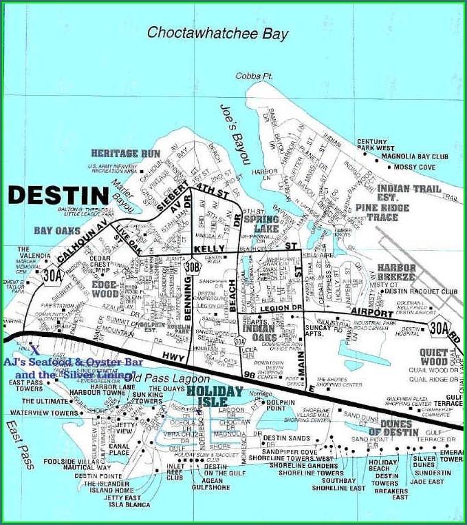 Map Of Destin Florida Condos