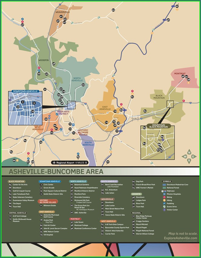 Map Of Downtown Asheville Hotels