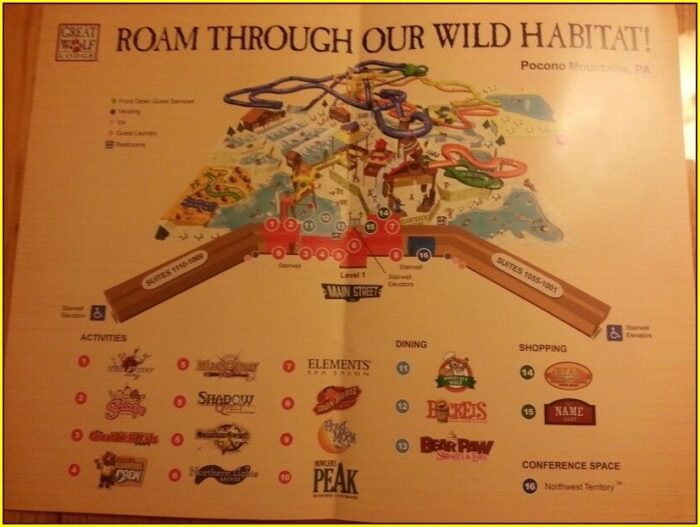 Map Of Great Wolf Lodge Poconos
