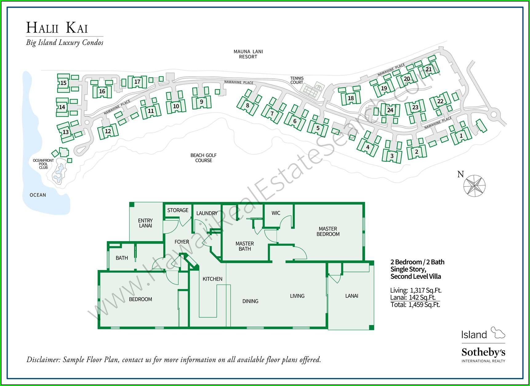 Map Of Halii Kai At Waikoloa Resort