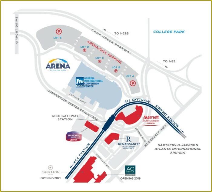 Map Of Hotels In Atlanta Ga