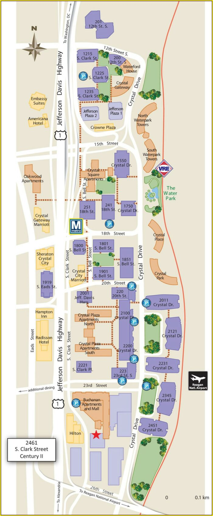 Map Of Hotels In Crystal City Va