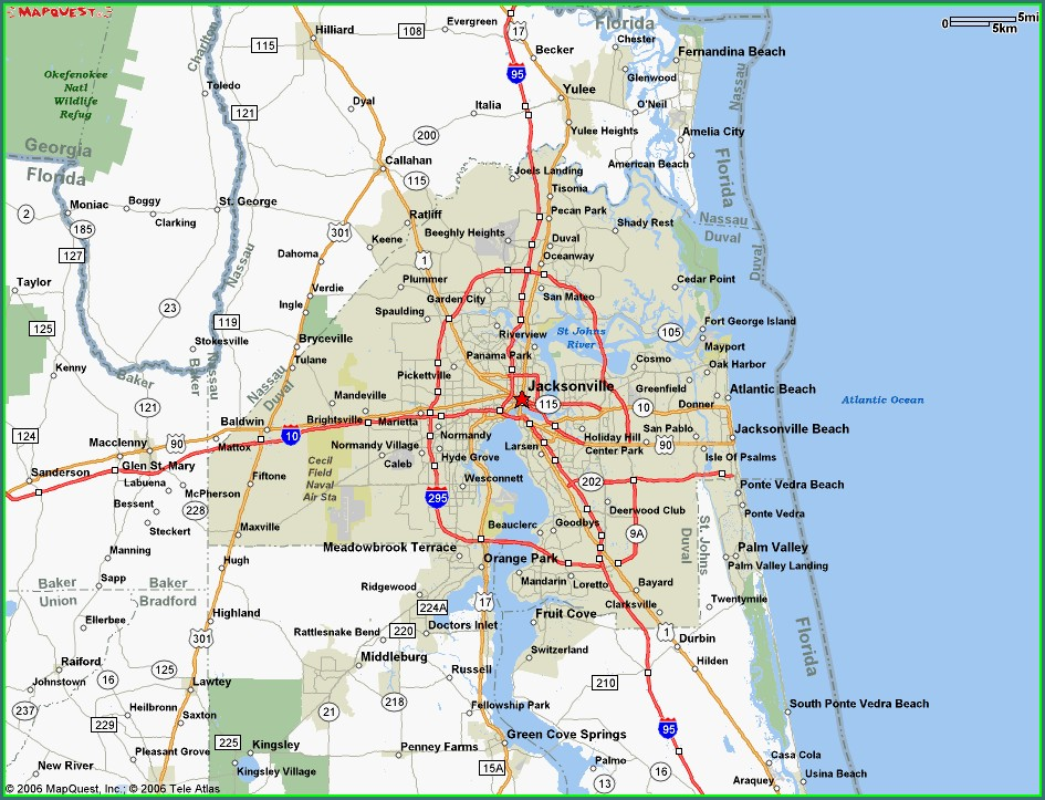 Map Of Hotels In Jacksonville Florida