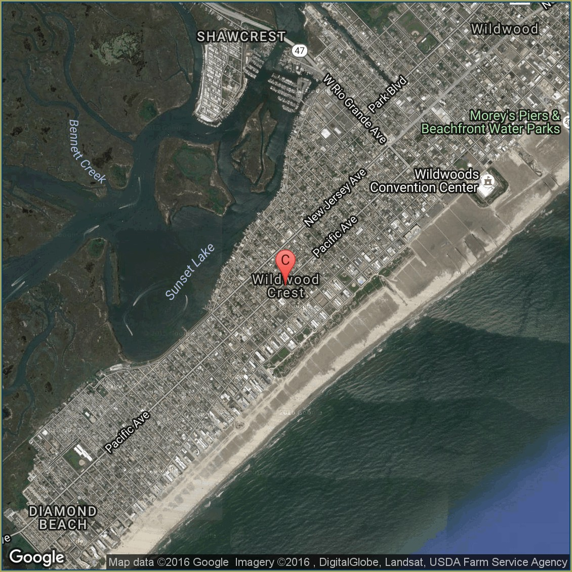 Map Of Hotels In Wildwood Nj