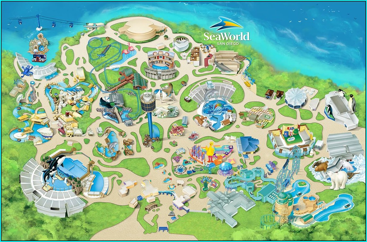 Map Of Hotels Near Seaworld San Diego