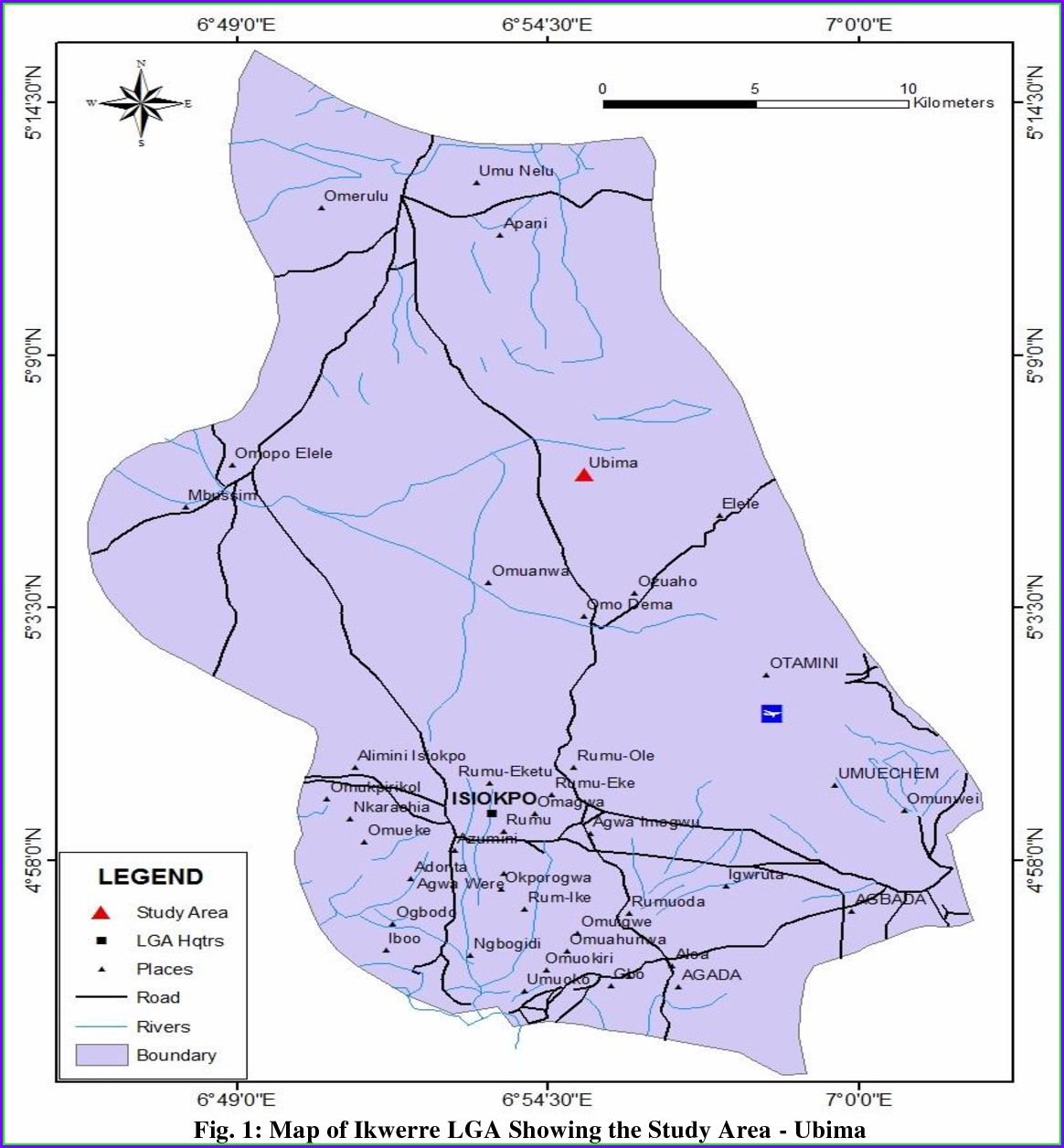 Map Of Ikwerre Local Government Area