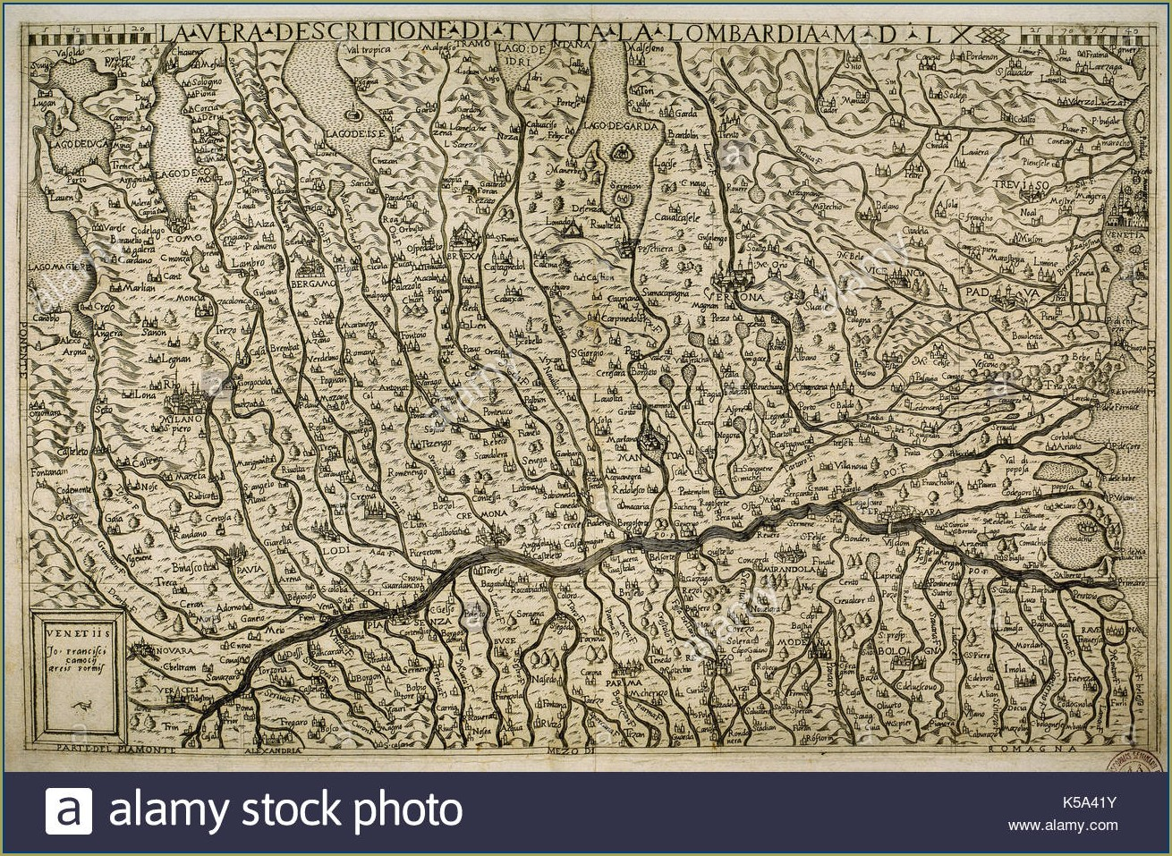 Map Of Italy Lombardy Region