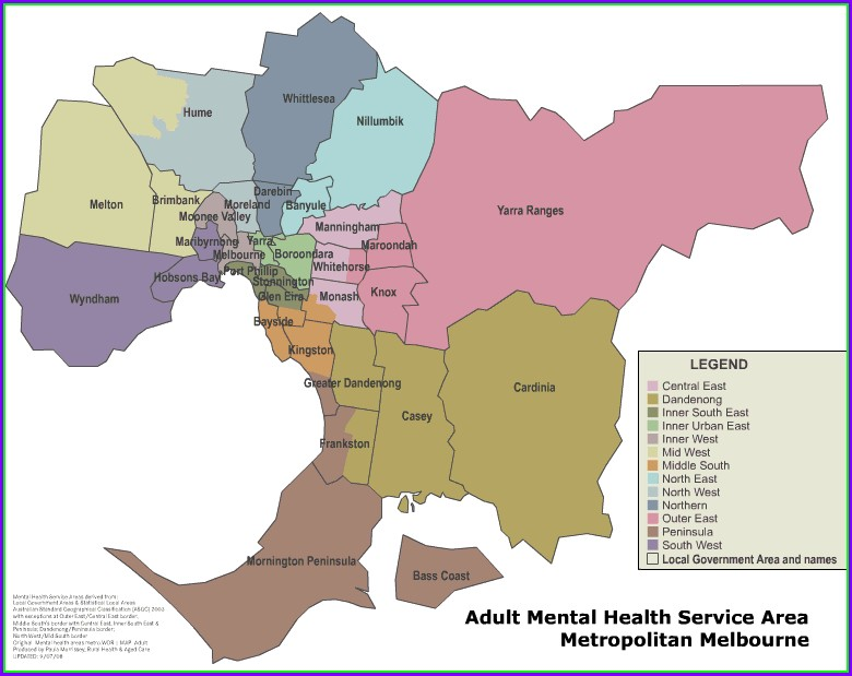 Map Of Local Government Areas Melbourne