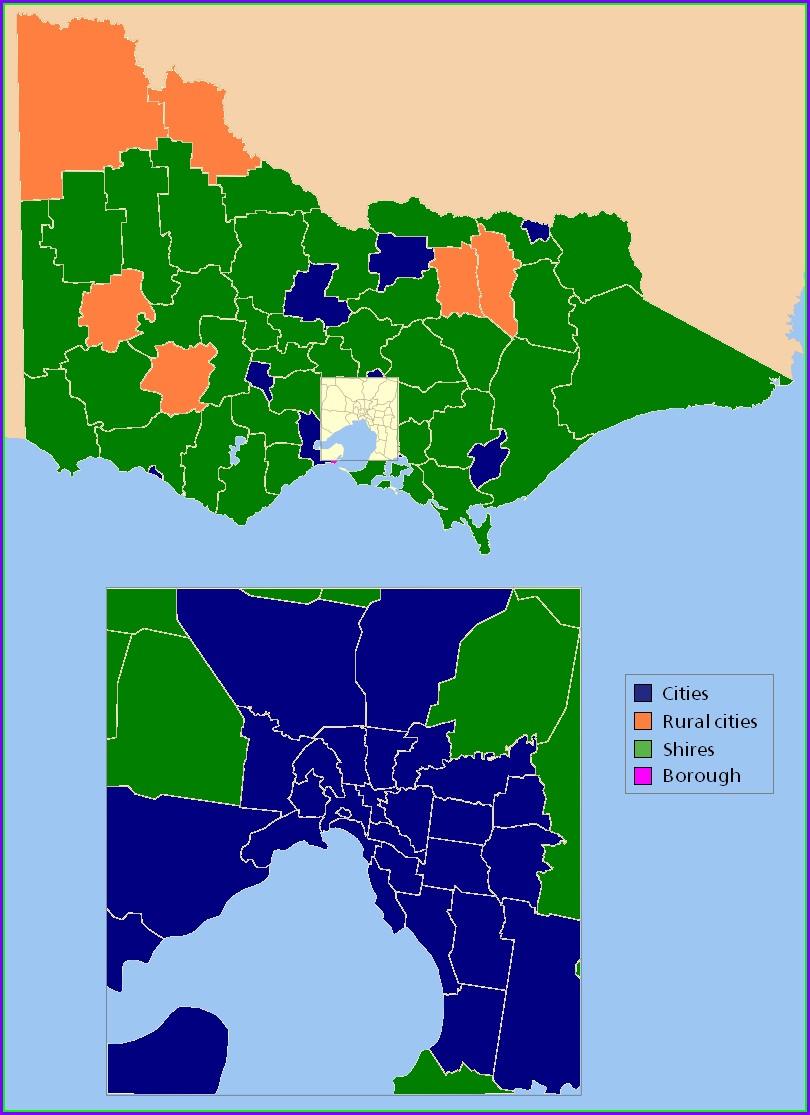 Map Of Local Government Areas Victoria