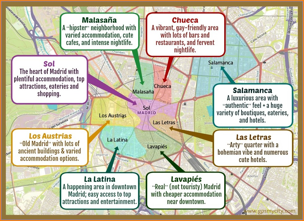 Map Of Madrid And Surrounding Areas