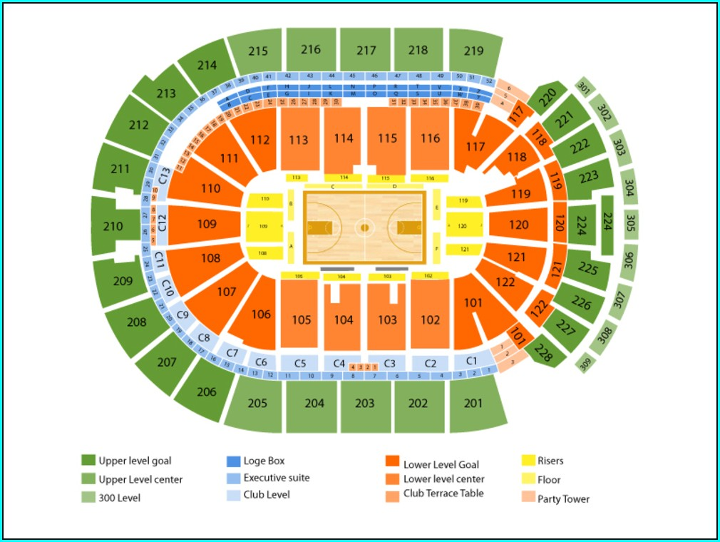Map Of Nationwide Arena Columbus Ohio
