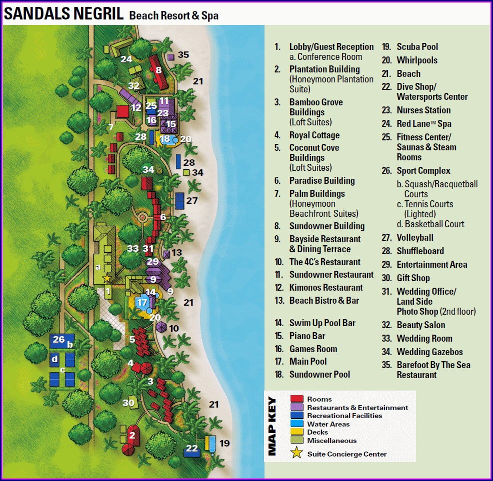 Map Of Negril Resorts